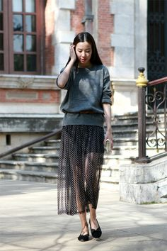 transparent skirt