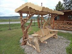 Super Creative staining a wooden porch swing that will impress you