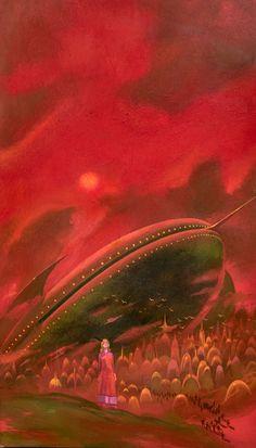 ~ Paul Lehr - Podkayne of Mars. Cover for the 1971 Berkley paperback of the Robert Heinlein story