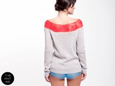 knitted sweater light grey hot pink mohair merino transparent mohair merino THE KNIT KID pink bulky theknitkid made in Germany Berlin Mohair Yarn, Mohair Sweater, Knitwear, Hot Pink, Knit Crochet, Spring Summer, Knitting Ideas, Trending Outfits, Knits