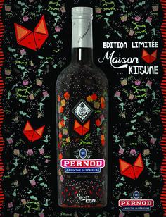 PERNOD ABSINTHE X MAISON KITSUNÉ Limited Edition Bottle