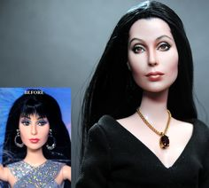 Noel+Cruz+Before+and+After | ... Timeless Treasures CHER custom doll repaint by Noel Cruz - no bangs