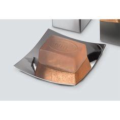Soap Dish, Gedy NE11-13, Square Polished Chrome Soap Dish NE11-13