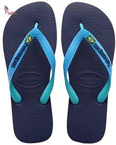 HAV. BRASIL MIX NAVY ,Bleu (Navy Blue/Turquoise 1327)  45/46 EU (43/44 BR) - Chaussures havaianas (*Partner-Link)