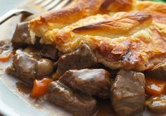 Weight watchers recipe  - steak and mushroom pie