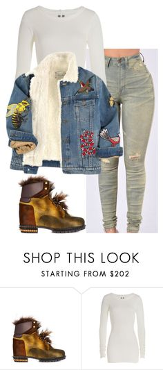 """""""Untitled #6203"""" by stylistbyair ❤ liked on Polyvore featuring Fendi, Rick Owens and Gucci"""