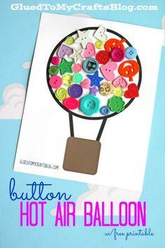 Button Hot Air Balloon - Kid Craft