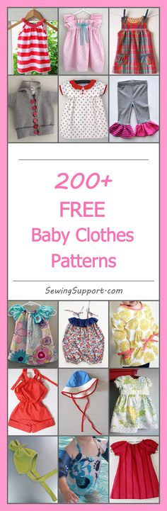 Lots of cute, free baby clothes patterns, tutorials, and diy sewing projects for boys and girls. Many simple, easy designs. Sew dresses, rompers, hats, booties, and more.