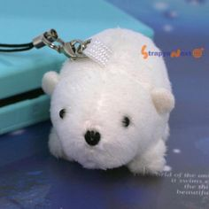 Soft and Downy Mini Animal Stuffed Toy Cell Phone Strap (Polar Bear) -