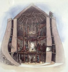 Illustrative cutaway of the inside a Scottish Broch