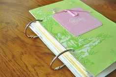 Make a book from bridal shower cards, wedding cards, Christmas cards, etc! How cool would it be to do one every year out of b'day cards, for your kids, with the covers done in the party's theme? LOVE this idea!!! .....Oh, @Rochelle Dick Satow... : )