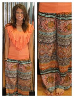 """""""Sweet Paisley"""" Pants available at www.smalltowngypsy.com  find us on Facebook!"""