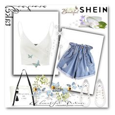 """shein"" by amna-lukic ❤ liked on Polyvore featuring Doublju, Milly and Wall Pops!"