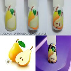 👌 Nail Art Fruit, Food Nail Art, Nail Art Diy, Dream Nails, Love Nails, Acrylic Nails Stiletto, Nail Art Techniques, Cat Nails, Nail Art Supplies