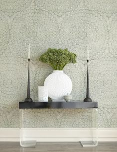 Large scale wallpaper by Celerie Kemble.  Simple Summer Spruces! - Design Chic