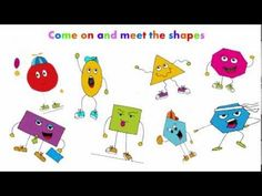 A song for children about shapes. Learn the properties of shapes with this fun song. shape pictures are from www. Fun Math, Math Activities, Kids Math, Math Resources, Math Songs, Kindergarten Songs, Second Grade Math, Grade 1, 2d And 3d Shapes