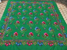 SALE 10% off Soviet Floral Shawl Vintage от RussianshawlMayya