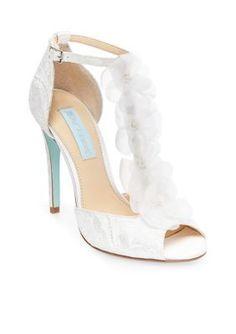 Betsey Johnson Ivory Sadie Flower Sandal