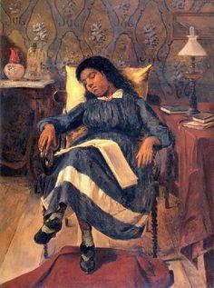 Menina adormecida, 1891 Antônio Rafael Pinto Bandeira (Brasil, 1863-1896) óleo sobre tela, 83 x 62 cm Museu Antônio Parreiras, Niterói