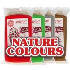 Fondant-Set in Naturfarben. Geben Sie Ihren Torten, Cupcakes oder Muffins einen natürlichen Look. #Fondant