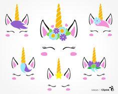 Unicorn svg, unicorn face svg | svg, png, eps, dxf, pdf | ClipInk