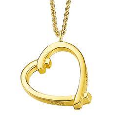 Joop! Ladies Necklace + Heart Pendant Heart JPNL90542B Gold Valentine