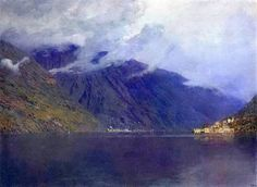 """Lake Como 1895, Oil on canvas"" Excerpt from ""Isaac Levitan: 126 Paintings and Drawings"" by Maria Tsaneva. Read it on Oyster →"