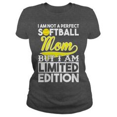 im not a perfect softball mom but i am limited edition tshirt Frog T Shirts, Cute Shirts, Funny Shirts, Awesome Shirts, Softball Mom, Softball Jerseys, Softball Stuff, Baseball Mom, Mothers Day Shirts