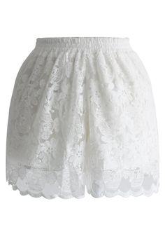 Full Lace White Shorts