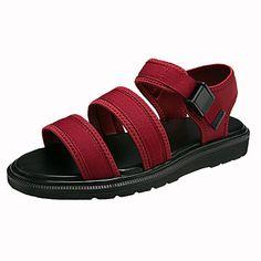 Mujer Zapatos PU Verano Confort Sandalias Tacón Plano Dedo redondo / Puntera abierta Negro / Negro / Rojo Réduction Ebay 100% Original Pas Cher En Ligne zEvGI