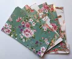 Filofax Personal Planner - Beautiful Teal Flower Dividers - Fully Laminated