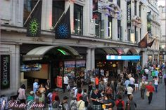 Between Piccadilly Circus and Leicester Square - London, UK, Great Britain