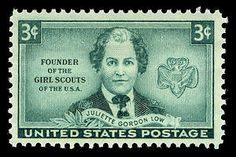 """On October 29, 1948, a postage stamp was issued to honor Juliette Gordon Low, the founder of the Girl Scouts organization. Juliette """"Daisy"""" Gordon Low was born into a prominent Savannah, Georgia family in 1860."""