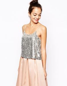 New Look Sequin Cami Top $34