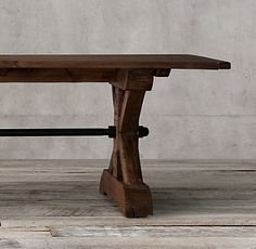 17th C. Ironbolt Trestle Rectangular Table | Restoration Hardware