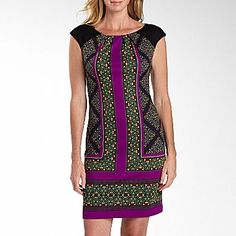 London Style Nights Print Sheath Dress - jcpenney