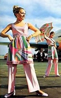 Braniff Airlines 1960's (Pucci) This was my uniform while a Braniff flight attendant. Too much fun!
