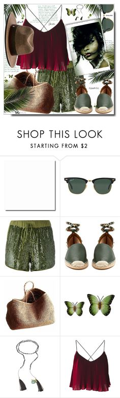 """""""How to Dress for a Heat Wave"""" by dragananovcic ❤ liked on Polyvore featuring Ray-Ban, P.A.R.O.S.H., Valentino, NORO, NOVICA, Missoni and Maison Michel"""