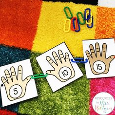 Looking for ideas to help celebrate the 100th day of school with your prekindergarten or kindergarten students? These fine motor activites are perfect for centers or rotations and provide low prep fun. Kinders will love the cutting activities, dotting fun, and the cover-up activity that focus on the number 100. Keep preschoolers busy and having fun with linking, hole punching, and letter writing tasks. Try these out during your 100th day celebration to add giggles & fun to the day. #Kindergarten