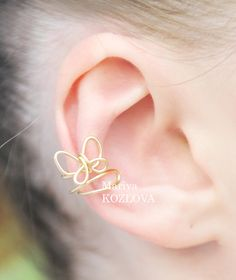 Small Gold Butterfly Cartilage Ear Cuff