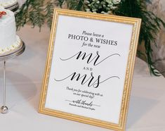 Photo Guest Book Sign Wedding Guest Book by BlissPaperBoutique