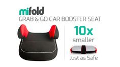 MiFold: The Grab-and-Go Booster Seat | Smaller than a regular booster seat and just as safe.