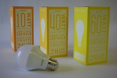 A packaging set that accentuates the absurdity of a light bulb that lasts 20 years. Kitchen Lighting Layout, Modern Kitchen Lighting, Large Pendant Lighting, Cool Lighting, Packing Box Design, Carton Design, Industrial Ceiling Lights, Contemporary Light Fixtures, Packaging Design Inspiration