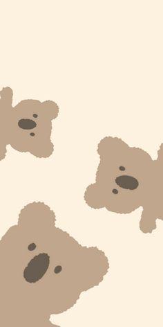 Simple Iphone Wallpaper, Cute Pastel Wallpaper, Soft Wallpaper, Minimalist Wallpaper, Summer Wallpaper, Simple Wallpapers, Bear Wallpaper, Cute Patterns Wallpaper, Cute Disney Wallpaper