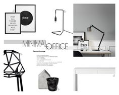 """""""Minimal Office"""" by nmkratz ❤ liked on Polyvore featuring interior, interiors, interior design, home, home decor, interior decorating, Magis and CB2"""