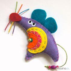 Spilla Mouse con l'artigianato in feltro di TinyArt su DaWanda.com