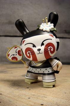 """Kitsune"" The Seven Tailed Geisha by huckgee, via Flickr"