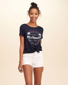 34b781c40776 The girls  Hollister T-Shirt Shop is full of the cutest new Graphic  T-Shirts with throwback So Cal attitude.