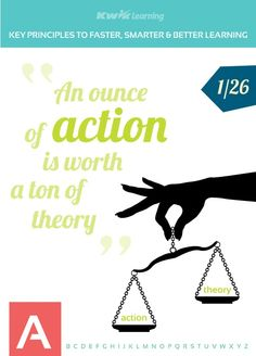 Start with Action! ;) To get more principles visit the following link http://kwiklearning.com/atoz/a2f.php