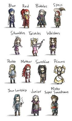 Emilia's Fire Emblem Scribbles: Photo - LOVE IT, escpecially with gaius' nicknames for everyone.